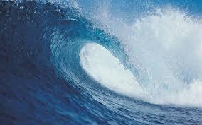 cool blue ocean sea surf wave free