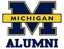 Amazon Com University Of Michigan Wolverines Alumni Clear Vinyl Decal Car Truck Sticker Kitchen Dining