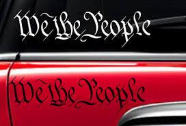 We The People Sticker America Patriotic Usa Freedom Liberty Vinyl Window Decal 5 00 Picclick