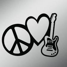 Peace Love Rock And Roll Vinyl Decal Sticker Cars Trucks Vans Walls Laptops Cups Black 7 X 5 4 Inch Kcd1615b Walmart Com Walmart Com