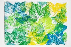 leaf prints kids crafts fun craft