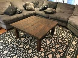 rustic coffee table perfect for game