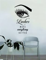 Lashes Make Everything Better V2 Quote Beautiful Design Decal Sticker Boop Decals