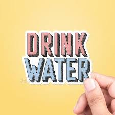 Drink Water Vinyl Sticker Best Friend Gift Cute Stickers Etsy
