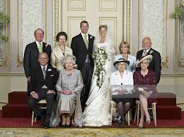 Wedding group photo taken May 17 of Mr Peter Phillips and Miss Autumn...  News Photo - Getty Images