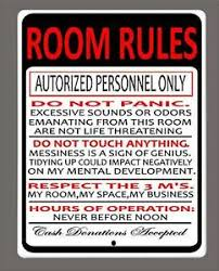 Room Rules Funny Man Cave Kids Room Etc Metal Sign 9 X12 Free Shipping Ebay