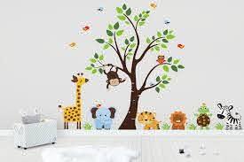 Animal Wall Art Nursery Wall Decals Baby Wall Stickers Jungle Nurserydecals4you