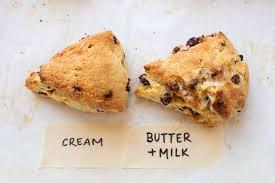 Cream scones vs. butter scones