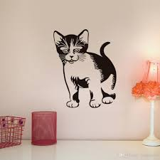 Cute Cat Vinyl Wall Sticker For Kids Room Decoration Accessories Little Kitten Removable Wall Art Decals Wallpaper Home Decor Bedroom Wall Transfers Best Wall Decals From Joystickers 11 67 Dhgate Com