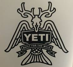 Authentic Yeti Vinyl Sticker Decal Built For The Wild Deer Fish Wings Ebay