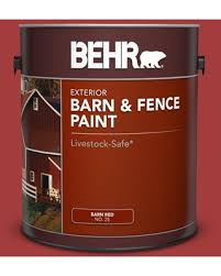 Don T Miss Deals On Behr 1 Gal Red Barn And Fence Exterior Paint
