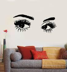 Vinyl Wall Decal Beautiful Eyes Big Eyelashes Makeup Spa Salon Stickers G1130 Ebay