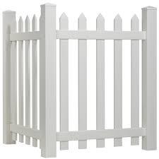 White Vinyl Corner Picket Fence 3 In Pickets Yard Home