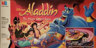 retro aladdin board game tries to show