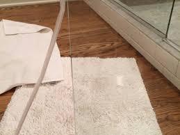 gluing plastic edge to shower door