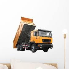 Yellow Dump Truck Wall Decal Wallmonkeys Com