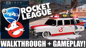 Ghostbusters Ecto 1 Featured In Rocket League Dlc Walkthrough Gameplay Youtube