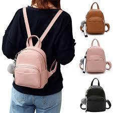 new women girls pu small backpack