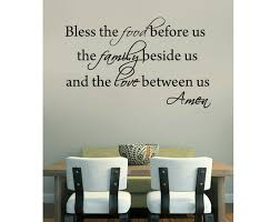 Bless The Food Before Us Wall Decal Vinyl Wall Art Decal Etsy