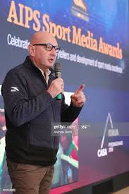 Member Ivo Ferriani speaks to the audience during the AIPS Sports... News  Photo - Getty Images