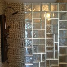 glass block shower wall installation