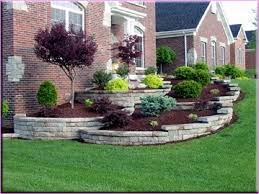 small sloping front garden small