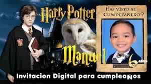 Video Invitacion Cumpleanos Harry Potter Dinamita Producciones Youtube