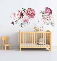 Amazon Com Peony Wall Decals Large Flower Wall Decals Flower Wall Decals 3d Large Flower Wall Decor Vintage Floral Wall Stickers Nursery Wall Art Decals Cik2434 Handmade