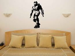 Halo Master Chief Xbox Ps Game Gaming Bedroom Decal Wall Art Sticker Picture Os1719 Free Shipping Wall Art Stickers Decal Wallwall Art Aliexpress