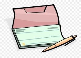 Vector Illustration Of Check Or Cheque Book Checks - Bank Account ...