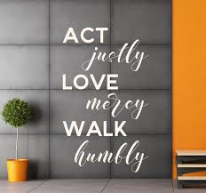 Vinyl Wall Decal Micah 6 8 Act Justly Love Mercy Etsy
