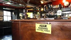 Coronavirus Pub Landlord Installs Electric Fence Around Bar Bbc News