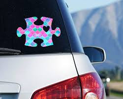Amazon Com Pattern Autism Puzzle Piece Car Decal Awareness Yeti Tumbler Sticker Your Choice Of Size And Color Handmade