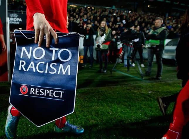 """Resultado de imagem para say no to racism uefa"""""""