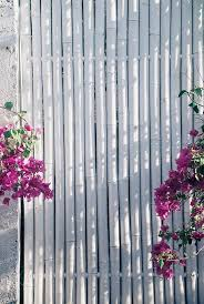 Simple Stylish Bamboo Wooden Fence Painted In White With The Fence Paint Bamboo Garden Fences Bamboo Screening Fence