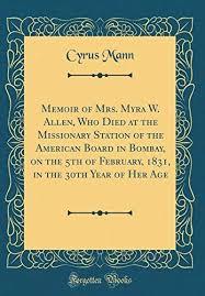 9780265488089: Memoir of Mrs. Myra W. Allen, Who Died at the ...