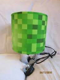 Pixels Touch Lamp Table Bedside Kids Room Matches Minecraft Game Free Post Ebay