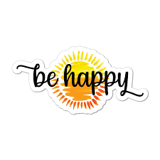 Be Happy Sunshine Car Sticker Decal Sun Hippie Cute Motivation Happy Good Vibes Ebay