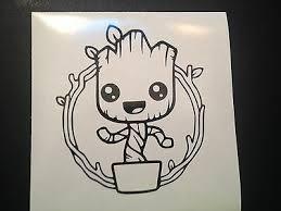 Guardians Of The Galaxy 2 Baby Groot Pot Viny Decal Sticker Window Car Truck Ebay