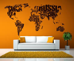 Map Wall Sticker World Map Cutzz