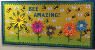 spring and end of year bulletin boards