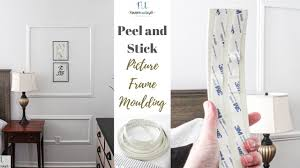 How To Apply Peel And Stick Moulding For A Beautiful Picture Frame Moulding Wall Youtube
