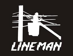 Lineman Vinyl Decal Lineman Vinyl Sticker Lineman Decal Lineman Sticker Line Life Decal Line Life Sticker Lineman Car Decals Lineman