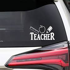 Amazon Com Yasera Car Wall Art Sticker Car Decal Car Sticker 20x10cm Teacher Ruler Apple Pencil Originality Decal Car Styling Car Sticker For Car Laptop Window Sticker Home Kitchen