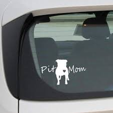 Pitty Mommy Dog Pet Pitt Love Bulldog Family Funny Car Vinyl Decal Sticker Auto Parts And Vehicles Car Truck Graphics Decals Magenta Cl