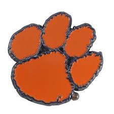 Cc Sports Decor Set Of 2 Ncaa Clemson University Tigers Color Emblem Automotive Stick On Car Decal
