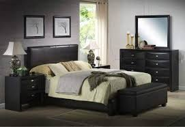 ireland queen faux leather bed