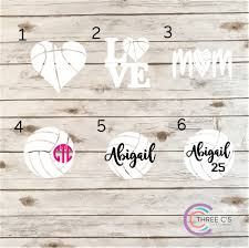 Volleyball Decal Three C S Tees And Accessories
