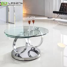 rotatable stainless steel coffee table
