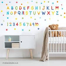 Alphabet Wall Decals Abc For Nursery Arabic Amazon Art Disney Australia Nz Large Playroom Vamosrayos
